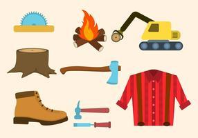 Wohnung Lumberjack Vektoren