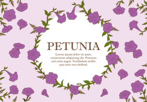 Petunia växt Vector