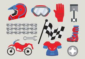 Motor Bike Trail Stuff Vector Pack
