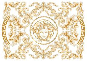 Moderno abstrato elegante geométrico do redemoinho e escultura Vector Versace Estilo