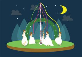 Maypole Brides Vector