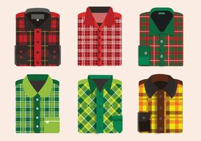 Flannel Shirt Folding Pattern Vector Pack