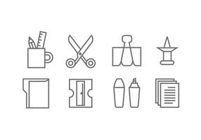 Stationery and Office Supply Icons vector