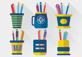 Pen Holder Vector Design