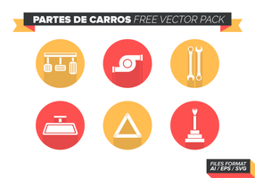 Partes De Carros Paquete de vectores libres