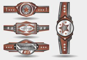 Silver Bronze Championship Belt Vector Design