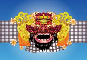 Background Barong Bali Vector