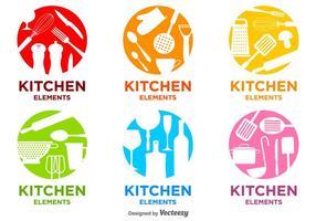 Brilhantes do vetor da cozinha Logos