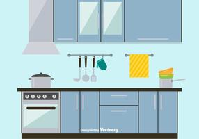 Sleek and Modern Kitchen Vector Illustration