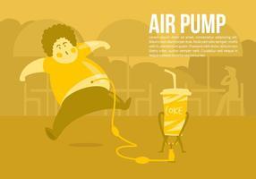 Coke Pump Vektor-Konzept-Hintergrund