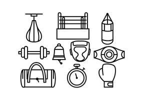 Freie Boxen Vektor-Icons