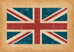 British Flag On Grunge Background vector