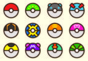 Set Of Poke Boule Pokemon