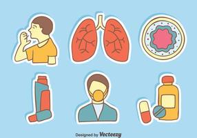 El asma Elemento Vectores
