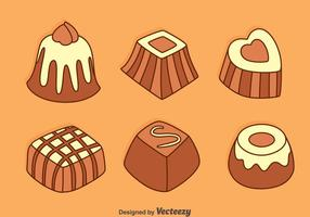 Hand Getrokken Chocolate Snack Vectors