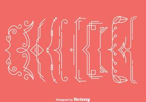 Ornament Bracket Vectors