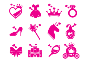 Princesa Pictogrammen Vector