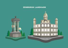 Edinburgh Landmark Illustration Vecteur