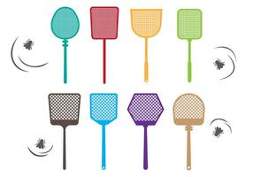 Collection Free Fly Swatter Vector
