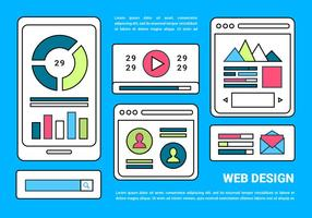 Free Web Background layout Vector