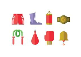 Boxing Championship Vector Icons