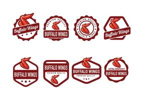 Buffalo Wings Badge Vector