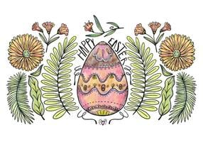 Decorative Easter Egg Background Vector