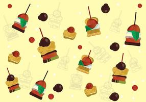 Canapes Sweetness Background Vector