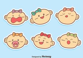 Funny Baby Face Expression Vector