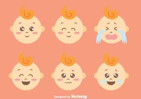 Flat schattige baby Expression Vectors