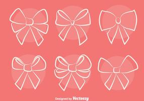 Sketch Hair Ribbon Vectors