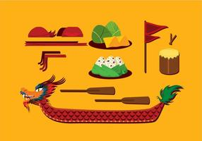Dragon Boat Festival Item Gratis Vector