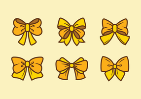 Yellow Hair Ribbon Vectors