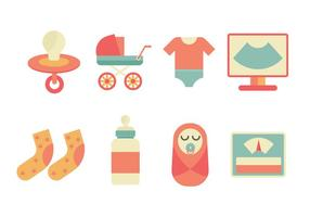 Maternité gratuit icônes vectorielles