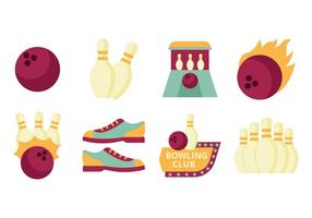 Free Flat Bowling Element Collection Vector