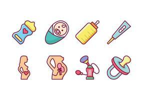 Libre de vectores iconos de maternidad