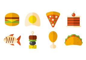 Libre de Alimentos y merienda rápida iconos del vector