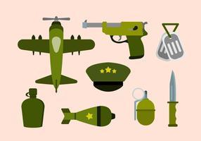 Flache Weltkrieg Vektoren