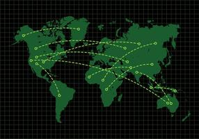 vettore di mapa mundi
