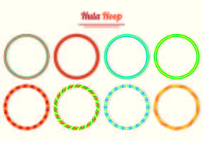 Set Of Hula Hoop Vecteurs