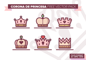 Corona de Princesa Paquete de vectores libres
