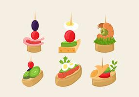 Canapes alimentaire Slice Isolated Vector