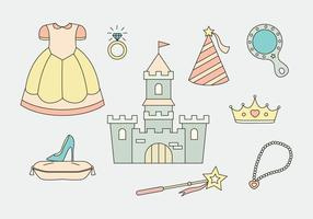 Prinses Icons Vector