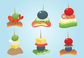 Free Canapes Icons Vector