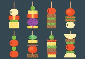 Gratis Canapes Icons Vector