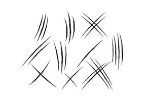 Arañazos, dibujos vectoriales