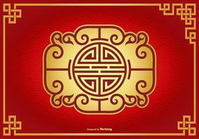 Vacker kinesisk dekorativ bakgrund