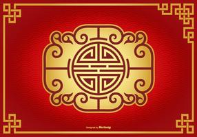 Mooie Chinese Decoratieve Achtergrond