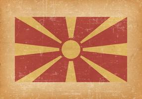 Macedonia Flag on Grunge Background
