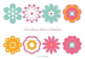 Colección colorida linda de Pascua Flores
